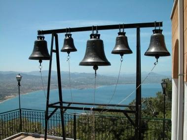 Bells at Monastery Patapiou with Corinth gulf, tb050803047