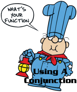 using conjunction