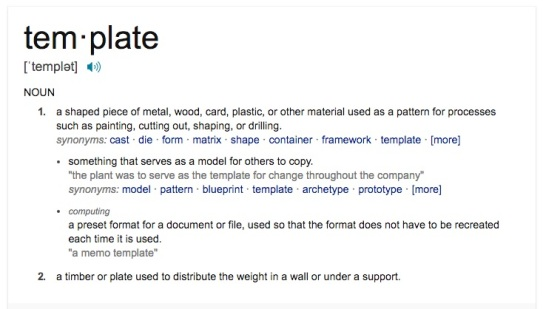 dictionary defintion template