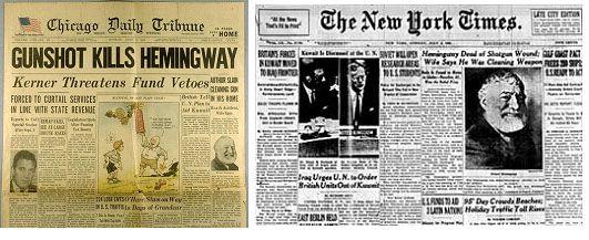 hemingway newspaper