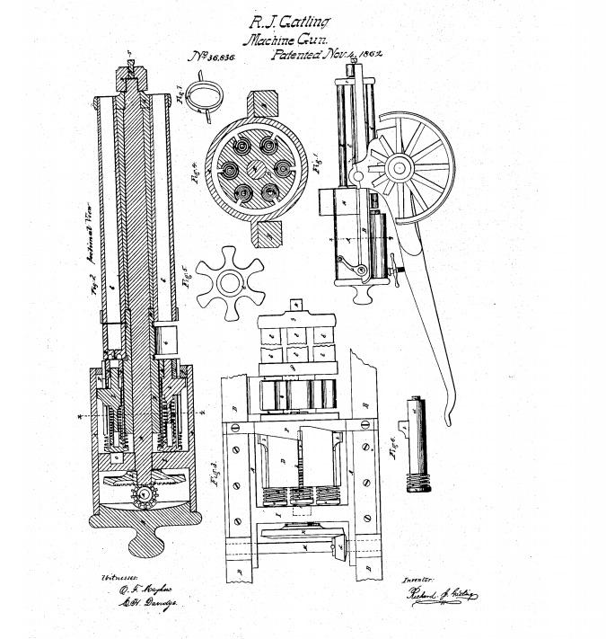 patent gatling gun