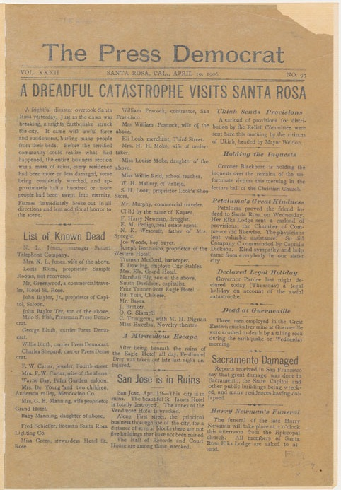 San Fran Newspaper pg1