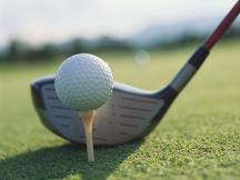 driving a golf ball